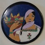 Lamosa Round Tile with Woman