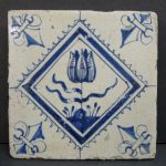 Antique Tulip Tile from Holland