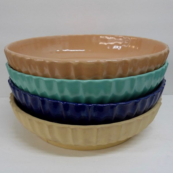 Garden City Low Ribbed Bowls