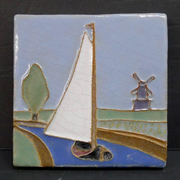 Franklin Vintage Sailboat Tile
