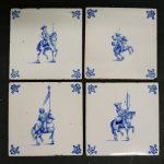 Cavalrymen Antique Dutch Tiles