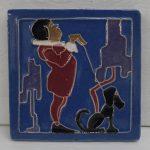Brayton Tile Man & Dog