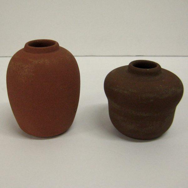 Bisque California Faience Vases