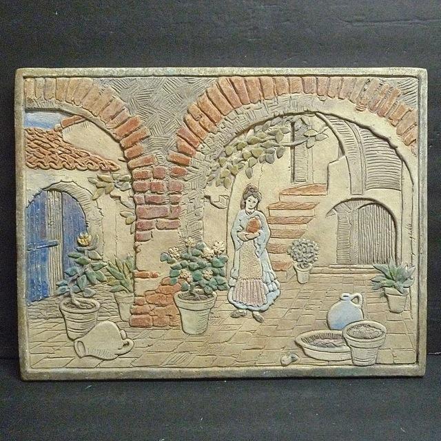 Claycraft Spanish Revival Scenic Tile