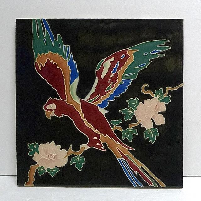 Claycraft Vintage Parrot Tile