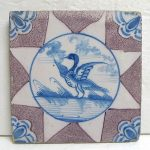 Delftware Tile with Bird