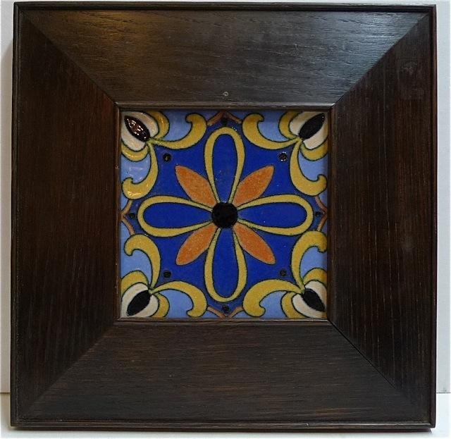 Flint Framed Medallion Tile