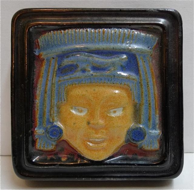 Flint Mayan Face Tile