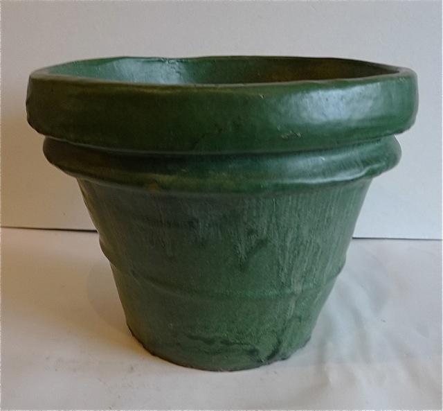 Matte Green Flower Pot