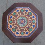 Santa Monica Brick Tile Table/Wood