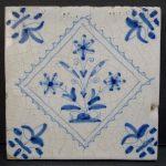Dutch Antique Floral Tile