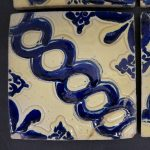 Hand-Painted Mexican Tile Set